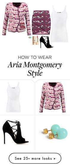 """""""Aria Montgomery Inspired Outfit"""" by daniellakresovic on Polyvore featuring Maje, Gianvito Rossi, Vince and Yves Saint Laurent"""