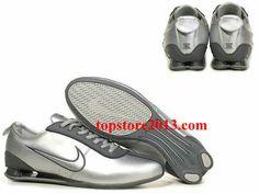 cheap for discount 532b6 16f33 Cheap Nike Shox Men All Gray Running Shoes