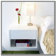 Wall Mounted Nightstand Bedside Table