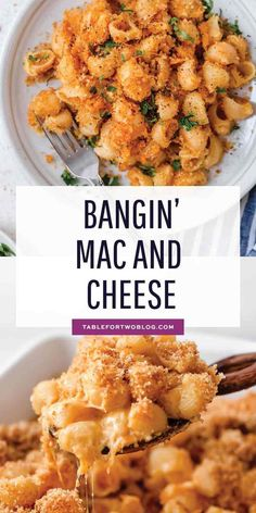 This mac and cheese recipe has a bit of a kick to it and it s the perfect weeknight comfort meal when you are craving pasta and cheese macncheese pasta cheesy comfortfoods comfortfoodrecipe # Quick Pasta Recipes, Macaroni Cheese Recipes, Healthy Recipes, Seafood Recipes, Vegetarian Recipes, Chicken Recipes, Cooking Recipes, Recipes Dinner, Pasta Recipies