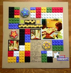 Lego scrapbooking layout