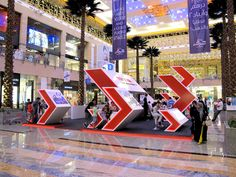Toshiba Event Stand on Behance Exhibition Stall, Exhibition Stand Design, Exhibition Display, Retail Interior Design, Wayfinding Signage, Outdoor Signs, Environmental Graphics, Stage Design, Behance