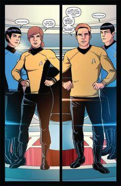 Star Trek - Parallel Lives from IDW Comics. Star Trek Cosplay, Star Trek V, Star Trek Reboot, Parallel Lives, Star Trek Images, Rule 63, Starship Enterprise, Starfleet Academy, Star Track