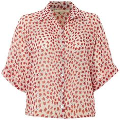 La Fee Maraboutee Short-sleeved blouse ($120) ❤ liked on Polyvore featuring tops, blouses, women, floral shirt, loose shirts, short sleeve tops, pink blouse and floral blouse