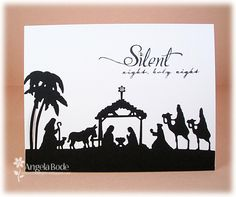 CCC13 Silent Night Silhouette by ohmypaper! - Cards and Paper Crafts at Splitcoaststampers