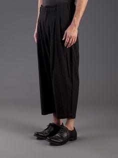 COMME DES GARCONS HOMME PLUS - Pinstriped Cropped Trouser - PL-P009-051-1 - H. Lorenzo