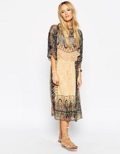 Immagine 1 di ASOS - Vestito glamour stile concerto con perline bohémien