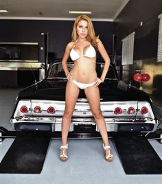 Lowrider car models girl show