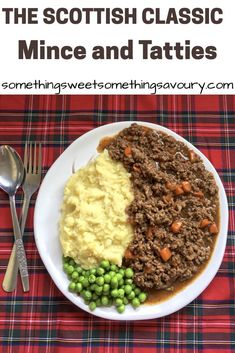 Mince and tatties – a cheap, old fashioned meal that's perfect for chilly weather days! You know it's starting to turn cold here in the Highlands when I start craving mince and tatties. There's certainly nothing fancy or very photogenic about a plate of … Scottish Dishes, Scottish Recipes, Irish Recipes, English Recipes, Uk Recipes, Meat Recipes, Cooking Recipes, Frugal Recipes, Lentil Recipes