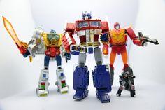 Transformers Masterpiece MP-08X King Grimlock, MP-10 Convoy (Optimus Prime) and MP-09 Rodimus Convoy (Rodimus Prime)