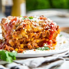 Going the Tex Mex route on this Hearty Mexican Lasagna, I kept with traditional lasagna noodles and went south of the border for spices. Refried beans, corn, two cheese with a beef and pork salsa meat sauce make this a crowd pleaser! Queso Cotija, Queso Cheddar, No Noodle Lasagna, Lasagna Noodles, Pasta Noodles, Mexican Lasagna Recipe With Noodles, Mexican Dishes, Mexican Food Recipes, Cooking Ingredients