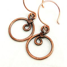 Hey, I found this really awesome Etsy listing at https://www.etsy.com/uk/listing/163868098/copper-wire-swirl-wire-wrapped-earrings