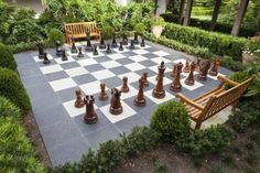 A giant chess board would be fun and draw interest.  Not sure we could actually fit something like this though...