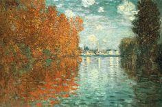 """Autumn Effect at Argenteuil"" - Monet, 1873"