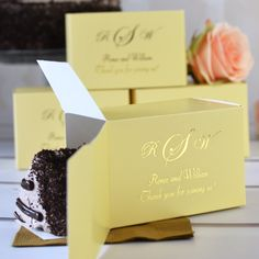 5 X 3 Custom Printed Cake Slice Favor Boxes Set Of 50