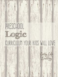 Preschool logic curriculum your little one will love
