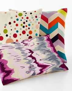 Shop Seismograph, Seltzer, and Arrowhead Embroidered Pillows at Horchow, where you'll find new lower shipping on hundreds of home furnishings and gifts. Cheap Throw Pillows, Decorative Throw Pillows, Pillow Sale, Palette, Embroidered Pillows, Quilts, Blanket, Luxury, Townhouse