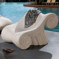 Hadrian's Villa Roman Spa Furniture Master's Lounge Chair