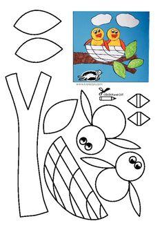 Summer Art And Craft Printable Summer Arts And Crafts, Spring Crafts For Kids, Diy Crafts For Kids, Art For Kids, Daycare Crafts, Classroom Crafts, Bird Nest Craft, Blog Art, Animal Crafts
