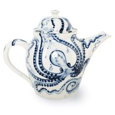 Renowned for her decorative porcelain tableware, Mia Sarosi produces contemporary crafted pieces that are thrown and finished by hand. Featuring an energetic design evocative of classical Japanese porcelain, each piece in the Octopus range is a one-off with every brush mark hand painted by the designer.