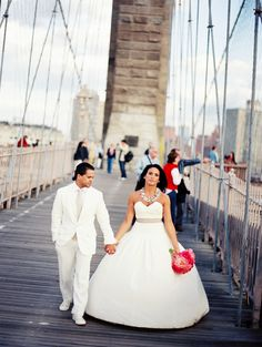 Photography by Robert Sukrachand, www.sukrachand.com      #photoshoot #postwedding #brooklyn #brooklynbridge #ny #peonies #wedding #weddingstyle #style #styling #eventus