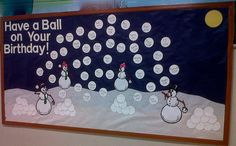 December monthly birthdays bulletin board so cute for winter birthdays in your classroom