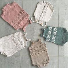 "802 Gostos, 26 Comentários - Vigdis Vikeså Drange (@mrsdrange) no Instagram: ""Laga med kjærleik og strikkegalskap! #houseofyarn_norway #knitting_inspiration #dalegarn #romper…"" Knitting For Kids, Baby Knitting Patterns, Free Knitting, Knitting Projects, Knitted Baby Clothes, Baby Crafts, Baby Sweaters, Baby Girl Fashion, Baby Sewing"
