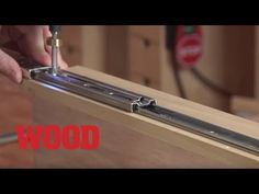 How to Install 3 Types of Drawer Slides in Cabinets - WOOD magazine 44112032 Sliding Barn Door Hardware Diy Projects Plans, Woodworking Projects Plans, Wood Drawer Slides, Pegboard Storage, Wood Magazine, Glass French Doors, Kitchen Cabinet Remodel, Diy Drawers, Sliding Barn Door Hardware