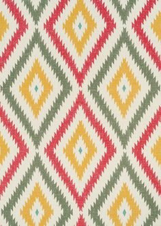 Aztec green red gold