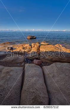 View from the limestone coast of the Baltic Sea in Estonia. Shutterstock contributor.