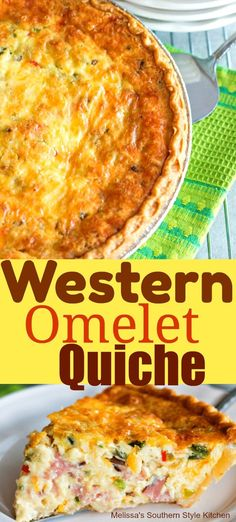 Omelet QuicheWestern Omelet Quiche Not sure what to bring? This cheesy ham quiche with a super-but Quiche Muffins, Quiche Feta, Quiche Chorizo, Ham Quiche, Quiche Dish, Cheese Quiche, Frittata, Quiches, Omelettes