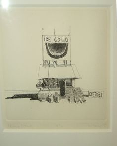 Wayne Thiebaud Cherry Stand-I love this little drawing.