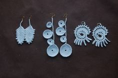 crochet lace earring