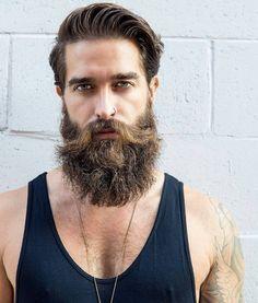 45 Long and Full Beard Styles - Fashiondioxide Great Beards, Awesome Beards, Beard Styles For Men, Hair And Beard Styles, Bart Tattoo, Old School Style, Mustache Styles, Beard Model, Perfect Beard