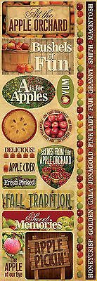 Reminisce APPLE ORCHARD COMBO Cardstock Stickers scrapbooking FALL