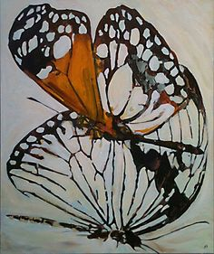 Butterfly Painting Butterfly Art ORIGINAL art by LizziePaints, $350.00