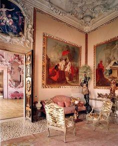 Tony Duquette Interiors | Dodie Rosenkrans Venice Palace İtaly , ... | Interior Design Ideas