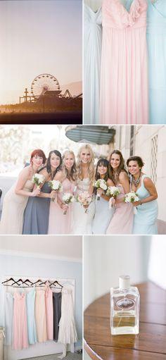 #wedding #bridesmaids #dresses #pastel