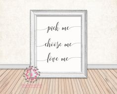 Pick Me Choose Me Love Me Meredith Grey's Anatomy Printable Print Wall Art Poster Home Decor