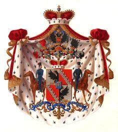 Coat of arms of His Serene Highness Prince Chernyshev /  Герб рода светлейших князей Чернышёвых