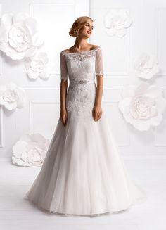 Suknia ślubna z kolekcji 2015 model E-3000T + BL-203 - Elizabeth Passion