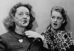 Bette Davis Daughter | Actress Bette Davis With Daughter Barbara at Court Hearing