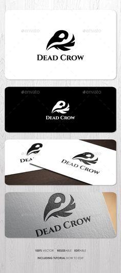 Dead Crow Logo by ashenterprise Simple and elegant logo for your business identity. Font Used: Cinzel http://www.fontsquirrel.com/fonts/cinzel