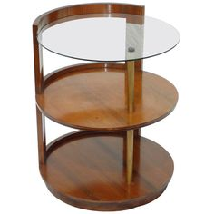 Rare Gilbert Rohde Three-Tier Side Table/Nightstand for Herman Miller c.1935