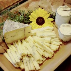 Cheese boards for book signing at Luna Bakery & Cafe.