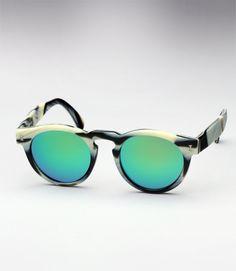86ae6863f214 Illesteva Leonard - Horn w  Aqua Green Mirror Horn