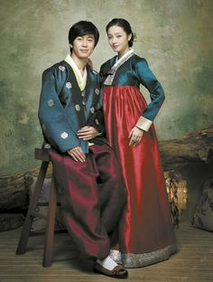 Korean traditional dress (hanbok) by Jinju Sangdan