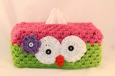 Owl Tissue Box Cover.