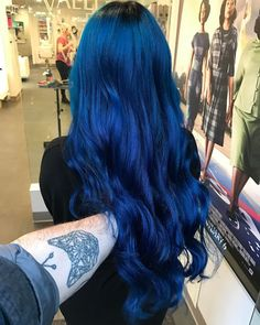 Blue Wigs Lace Hair Lace Frontal Wigs Synthetic Hair Wigs Princess Diana Wig Blue Hair Color For Black Hair Blue Wig, Hair Color For Black Hair, Cool Hair Color, Green Hair, Purple Hair, Ombre Hair, Dark Blue Hair, Bright Blue Hair, Royal Blue Hair