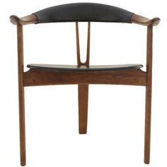 Arne Hovmand Olsen Sculptural Tri-Leg Armchair   From a unique collection of antique and modern armchairs at https://www.1stdibs.com/furniture/seating/armchairs/